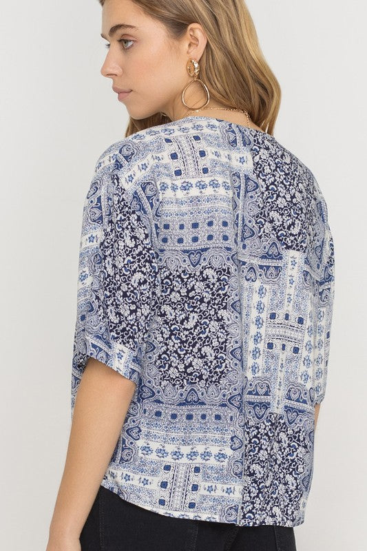 Bandana Print Top | Stylish & Affordable | UOI Online