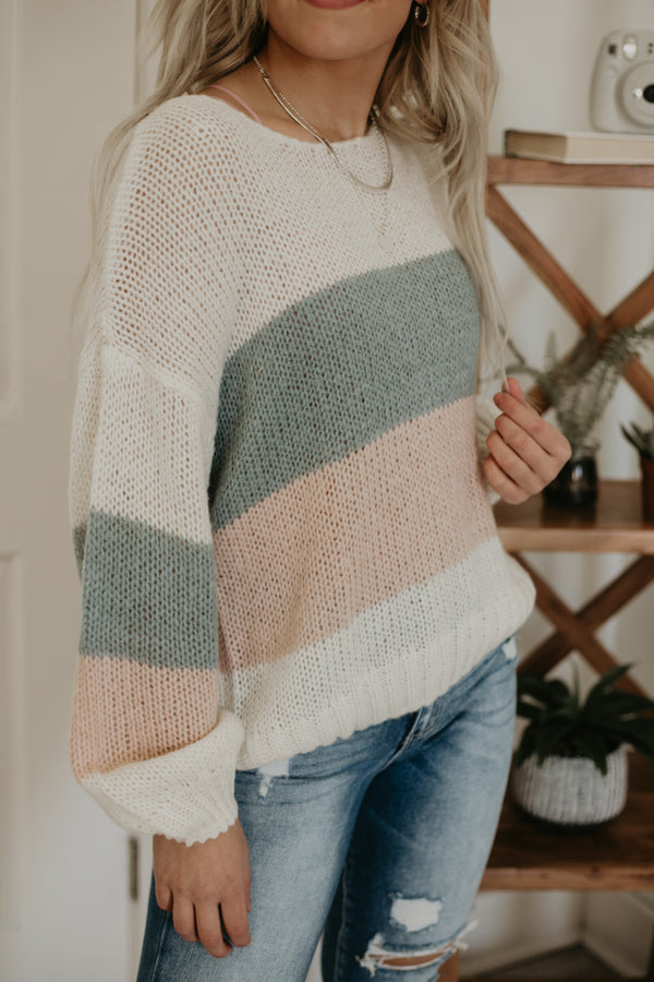 Lightweight Color Block Knit Sweater | Stylish & Affordable | UOI Online