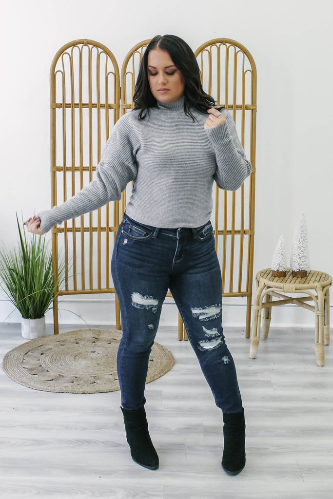 Mock Neck Sweater | Stylish & Affordable | UOI Online