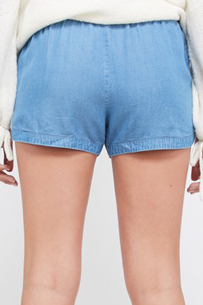 Tensel Denim Shorts - Online Clothing Boutique