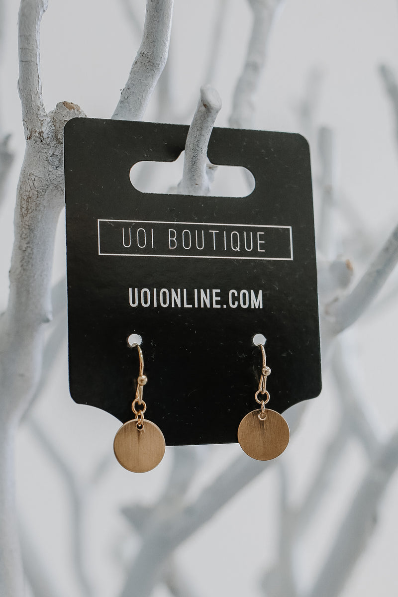 Circle Pendant Earrings | Stylish & Affordable | UOI Online