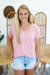 Short Sleeve Basic V Neck Tee | Stylish & Affordable | UOI Online