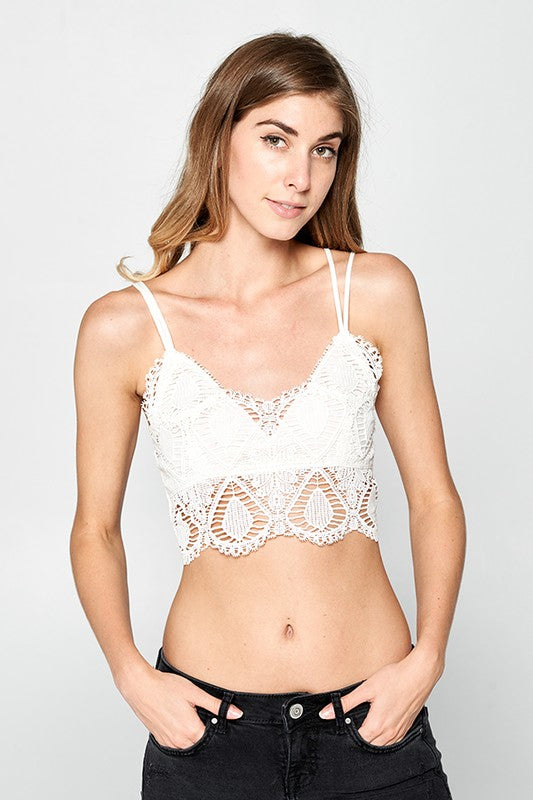 Non-Padded Lace Bralette - Online Clothing Boutique