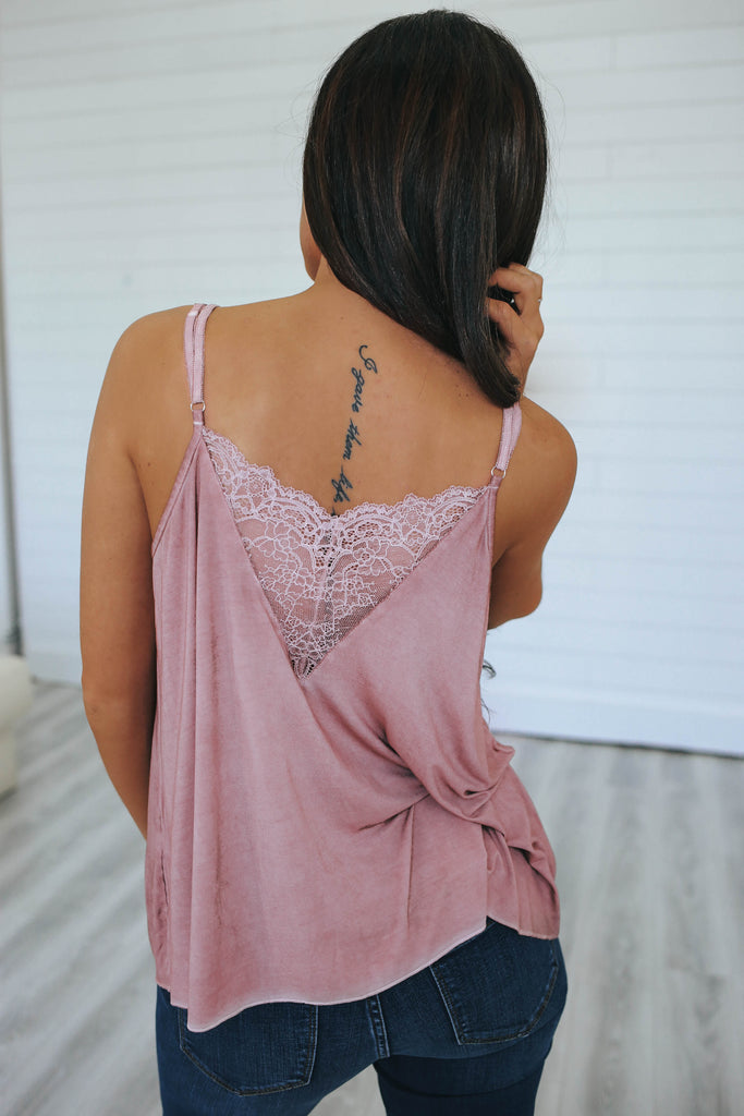 Lace Tank Top - Online Clothing Boutique
