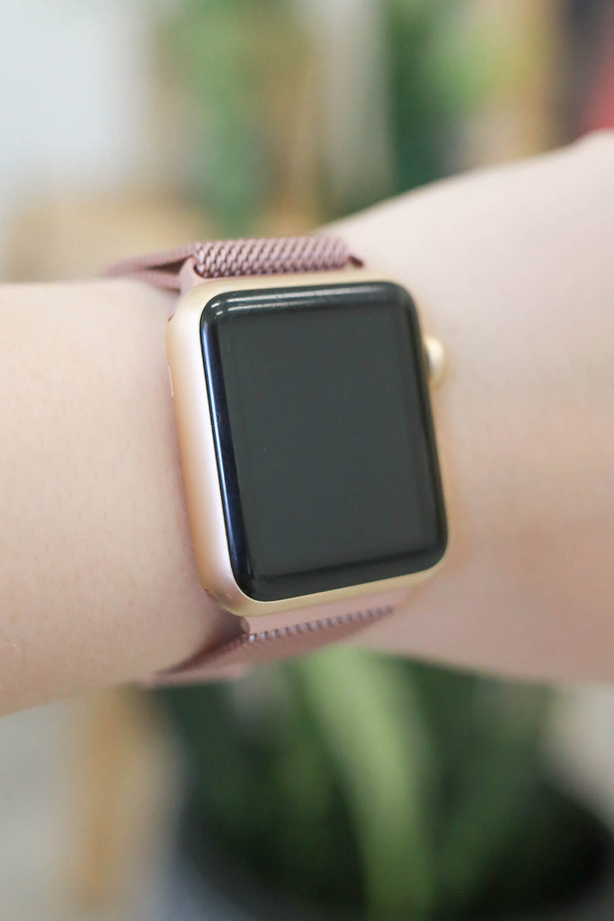 Metal Mesh Apple Watch Band - Online Clothing Boutique