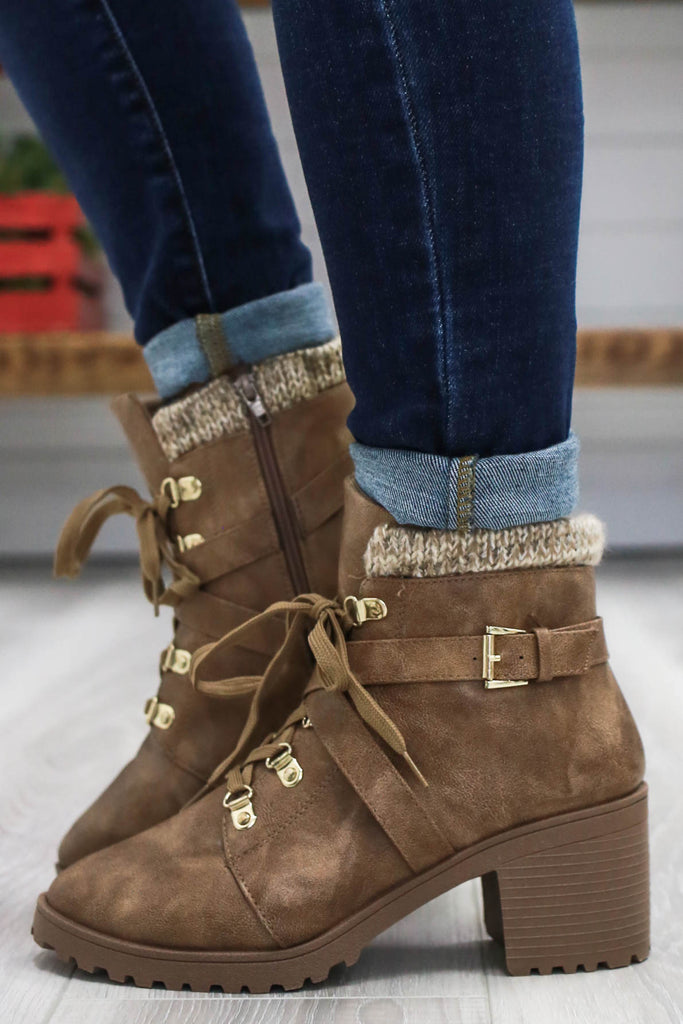 Lace Up Booties | Stylish & Affordable | UOI Online