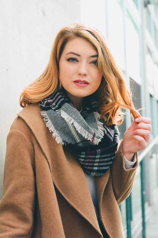 Plaid Infinity Scarf | Stylish & Affordable | UOI Online