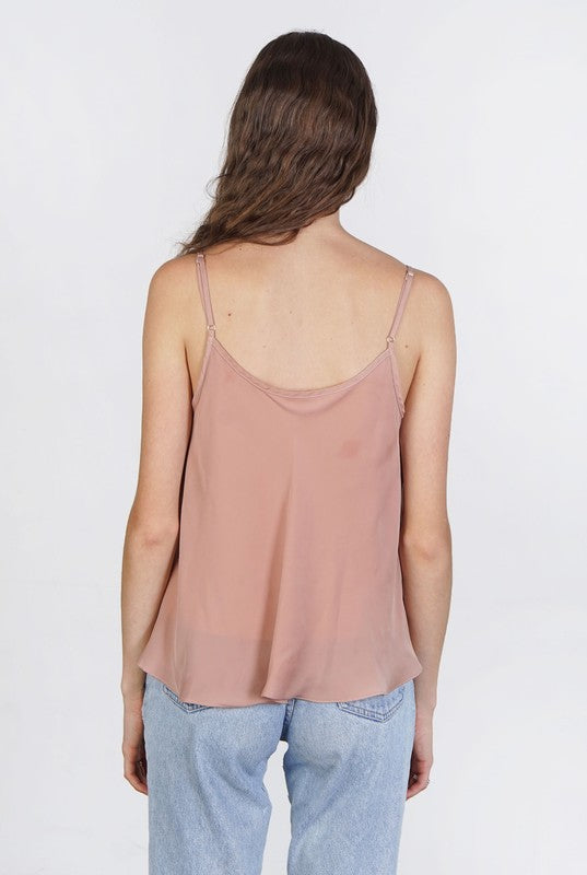 Cropped V-Neck Tank Top - Online Clothing Boutique
