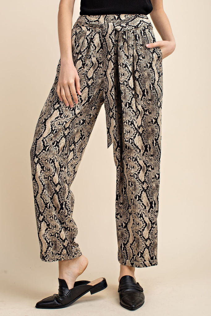 Snakeskin Pants - Online Clothing Boutique