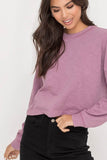Basic Long Sleeve Crop Top - Online Clothing Boutique
