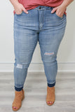 Plus Size Mid Rise Skinny Fit Denim - Online Clothing Boutique