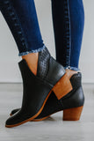 Faux Leather Perforated Ankle Booties | Stylish & Affordable | UOI Online