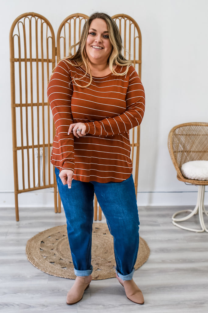Plus Size Striped Top | Stylish & Affordable | UOI Online