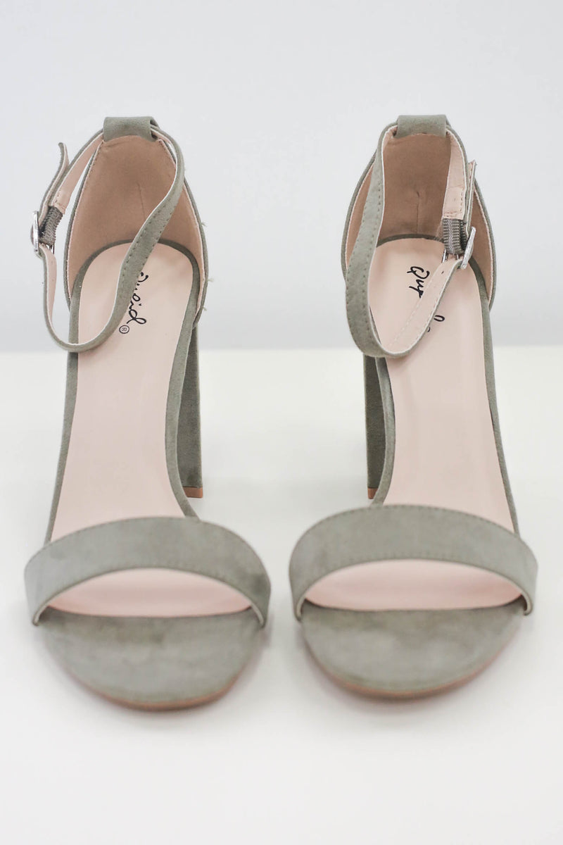Faux Suede Heels - Online Clothing Boutique