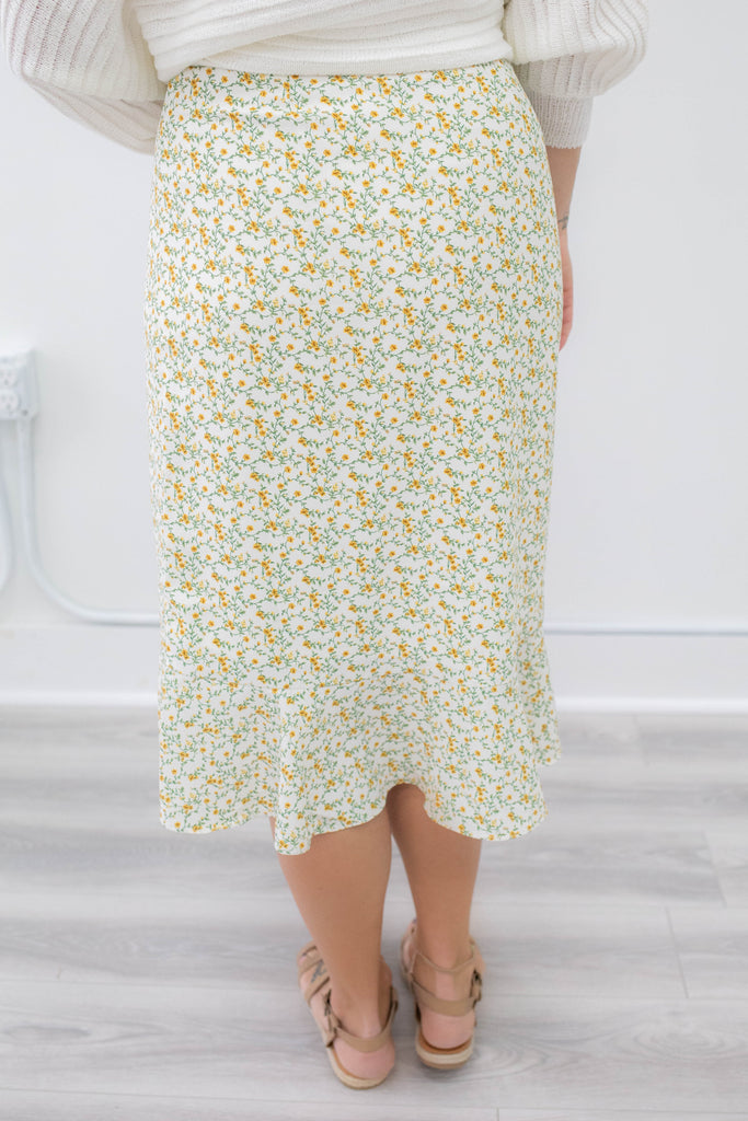 Floral Wrap Skirt - Online Clothing Boutique