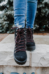Faux Suede Round Toe Lace-Up Boots | Stylish & Affordable | UOI Online