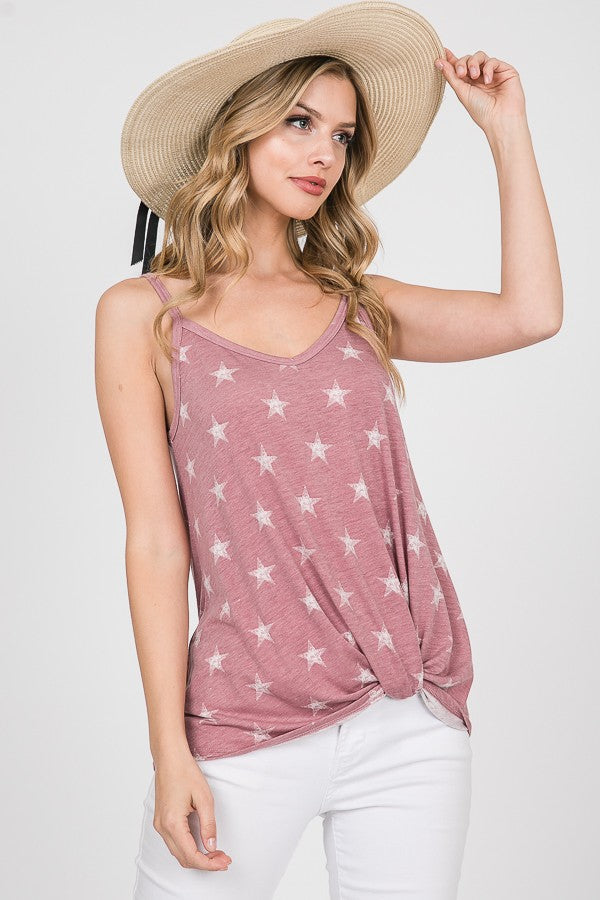 Star Print Tank Top - Online Clothing Boutique