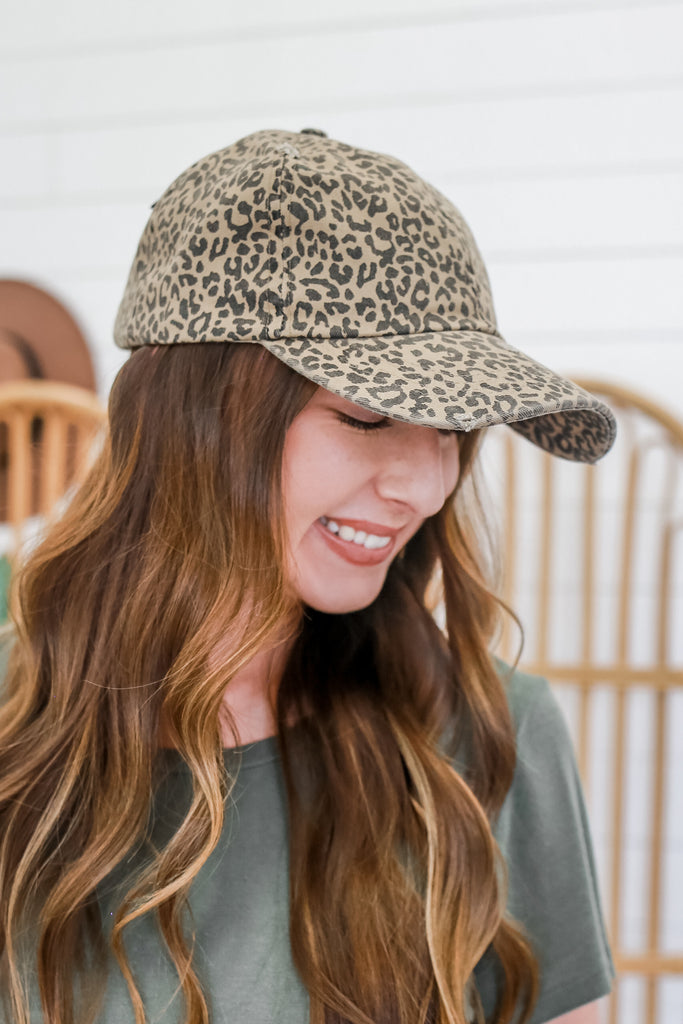 Leopard Print Baseball Cap | Stylish & Affordable | UOI Online