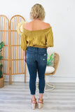 Off The Shoulder Crop Top - Online Clothing Boutique