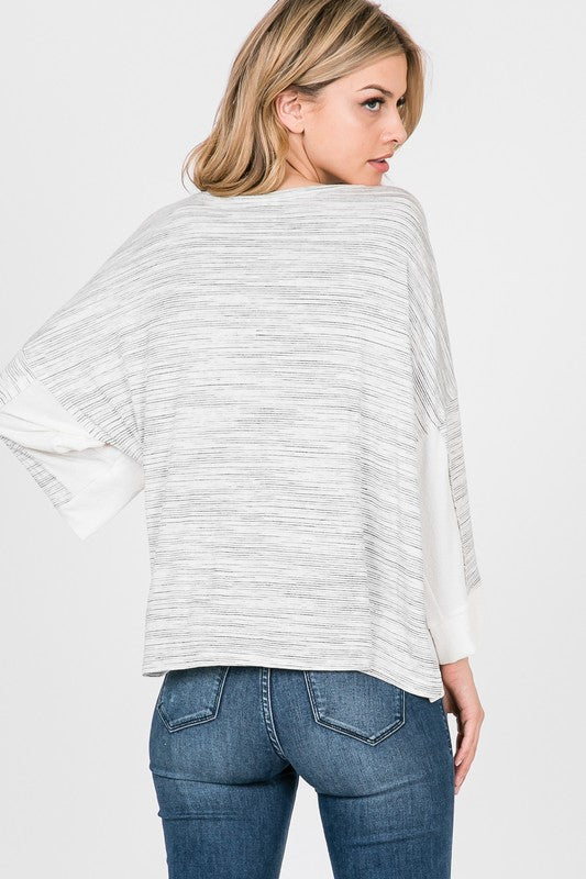 3/4 Sleeve Boxy Top - Online Clothing Boutique