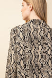 Snakeskin Blazer Jacket - Online Clothing Boutique