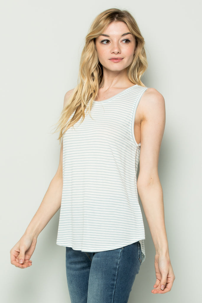 Striped Tank Top - Online Clothing Boutique