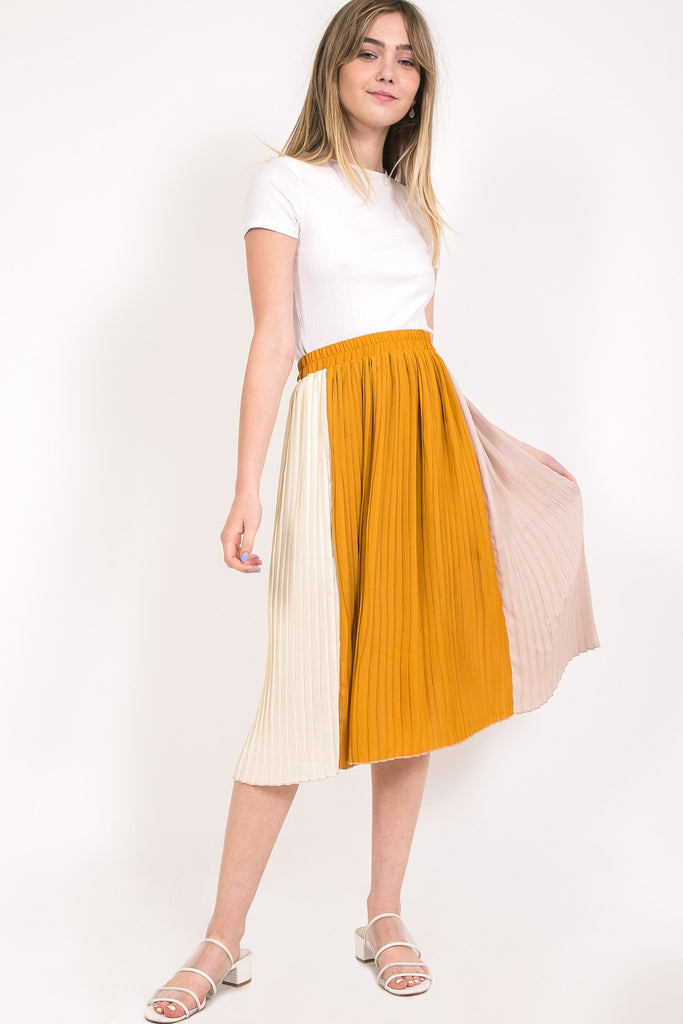 Pleated Midi Skirt | Stylish & Affordable | UOI Online