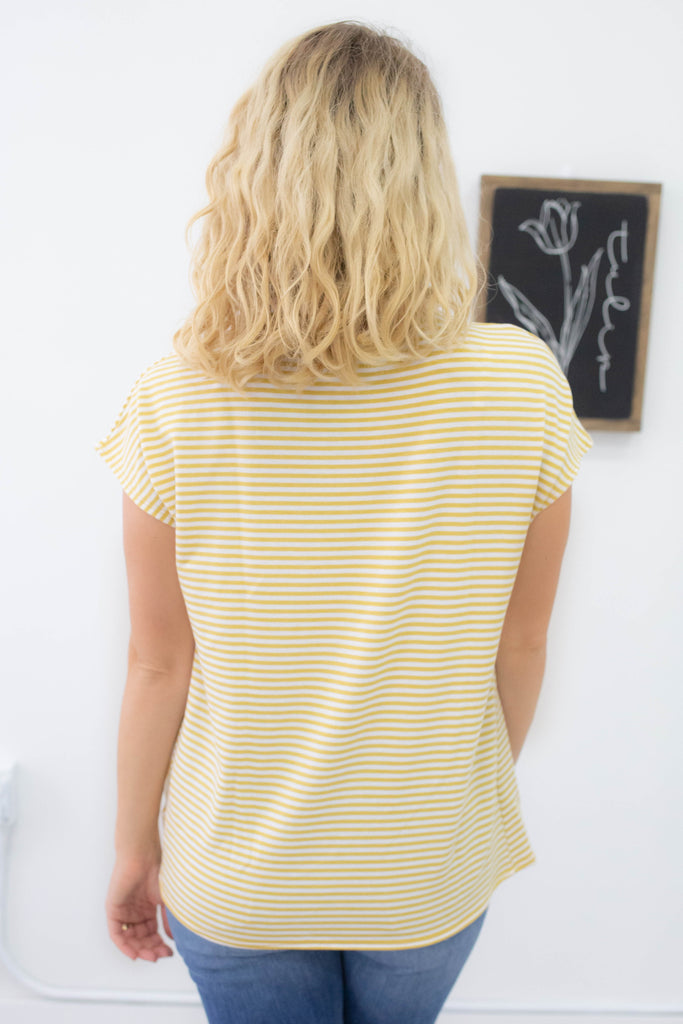 Striped Knotted Top - Online Clothing Boutique