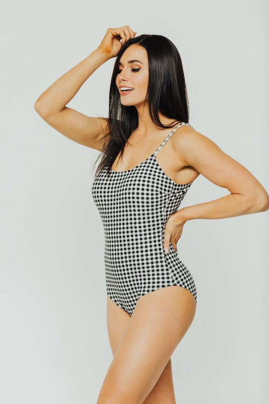 Gingham One Piece Swimsuit - Online Clothing Boutique