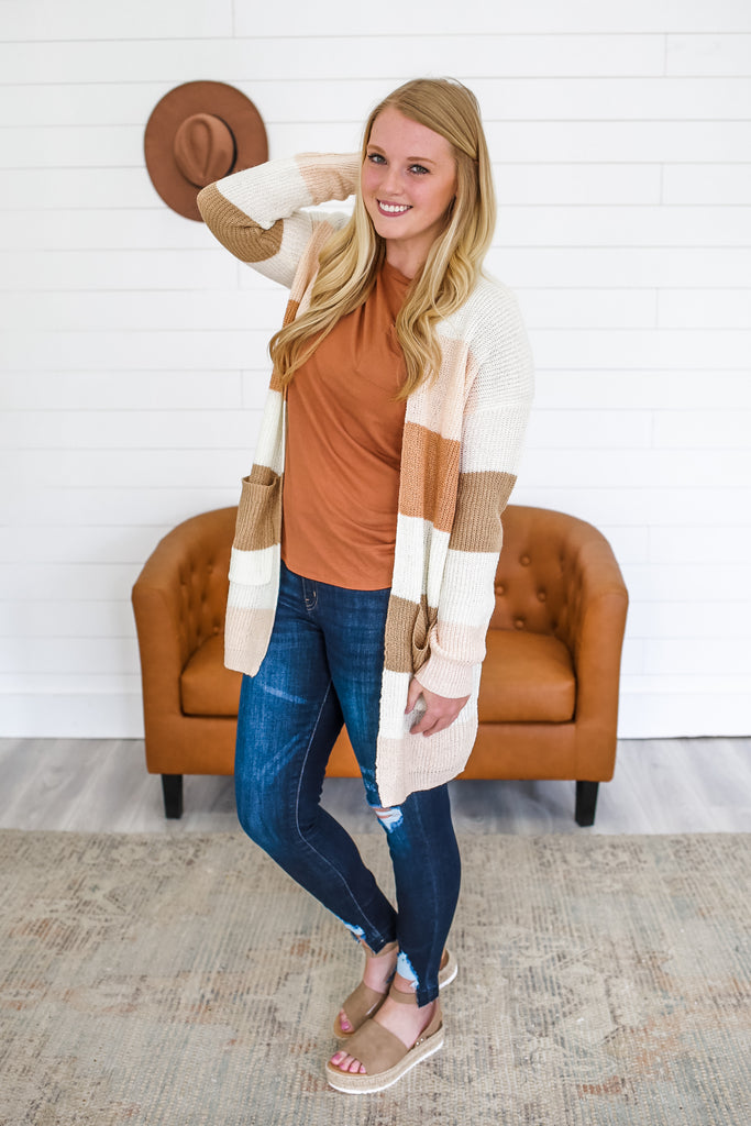 Lightweight Block Cardigan | Stylish & Affordable | UOI Online