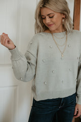 Slightly Cropped Pom-Pom Knit Sweater | Stylish & Affordable | UOI Online