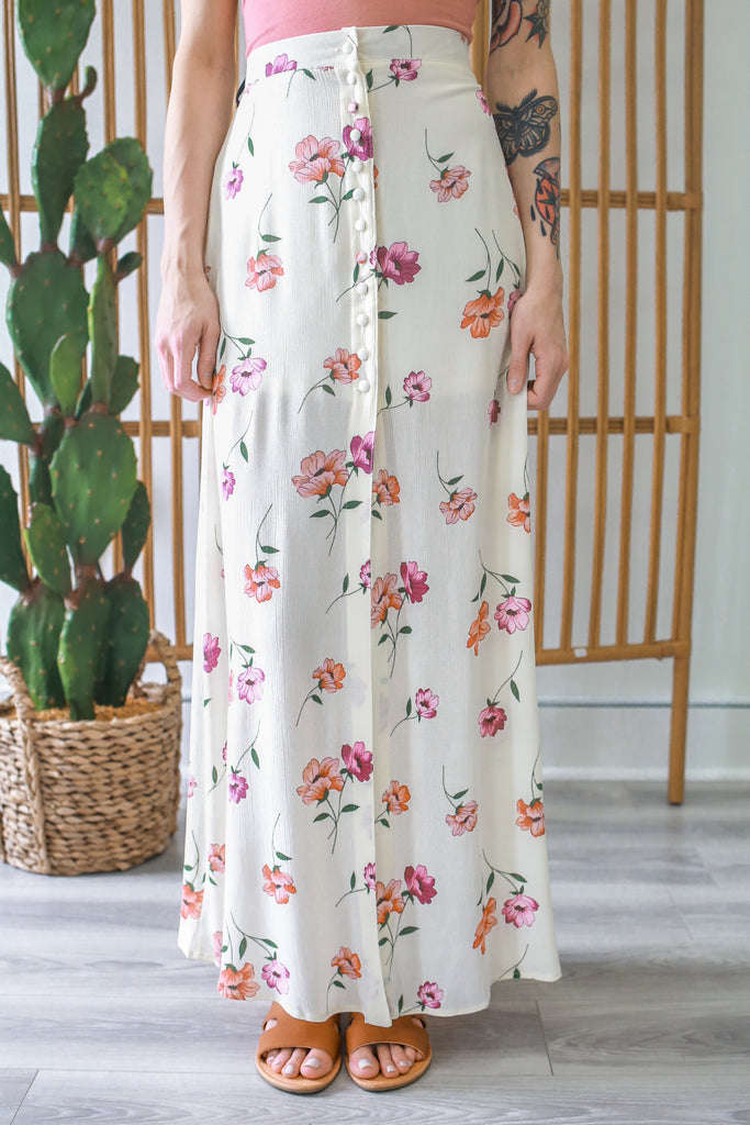 Floral Maxi Skirt - Online Clothing Boutique