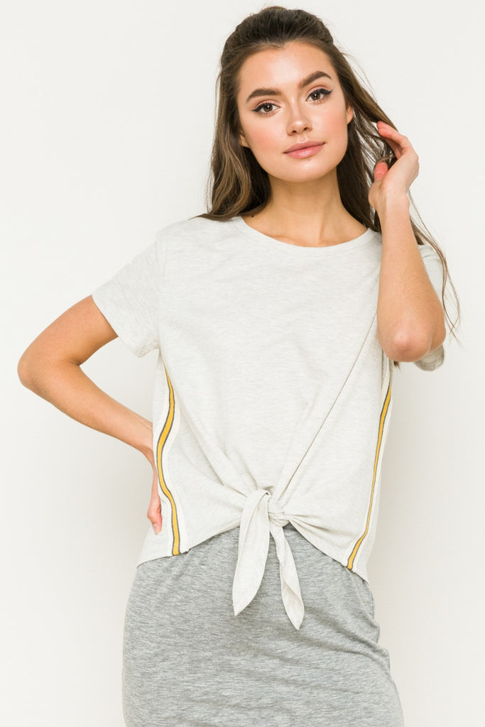 Self Tie Front Top - Online Clothing Boutique