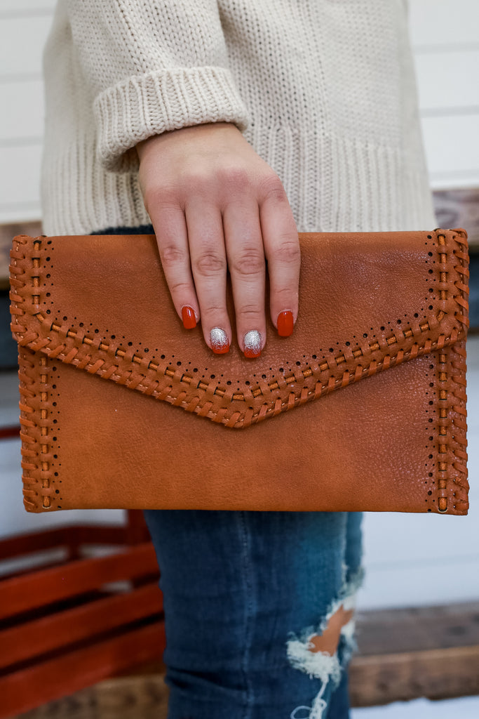 Faux Leather Clutch | Stylish & Affordable | UOI Online