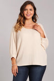 Plus Size Waffle Knit Top - Online Clothing Boutqiue