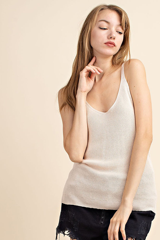 Knit Sweater Tank - Online Clothing Boutique