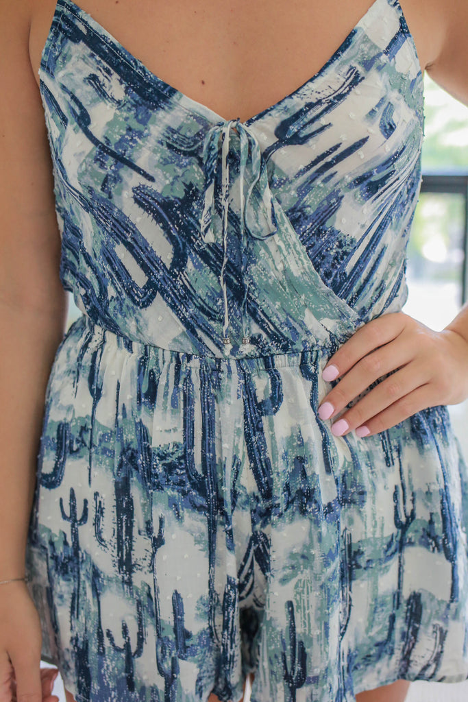 Watercolor Romper - Online Clothing Boutique