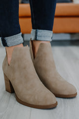 Nubuck Booties | Stylish & Affordable | UOI Online