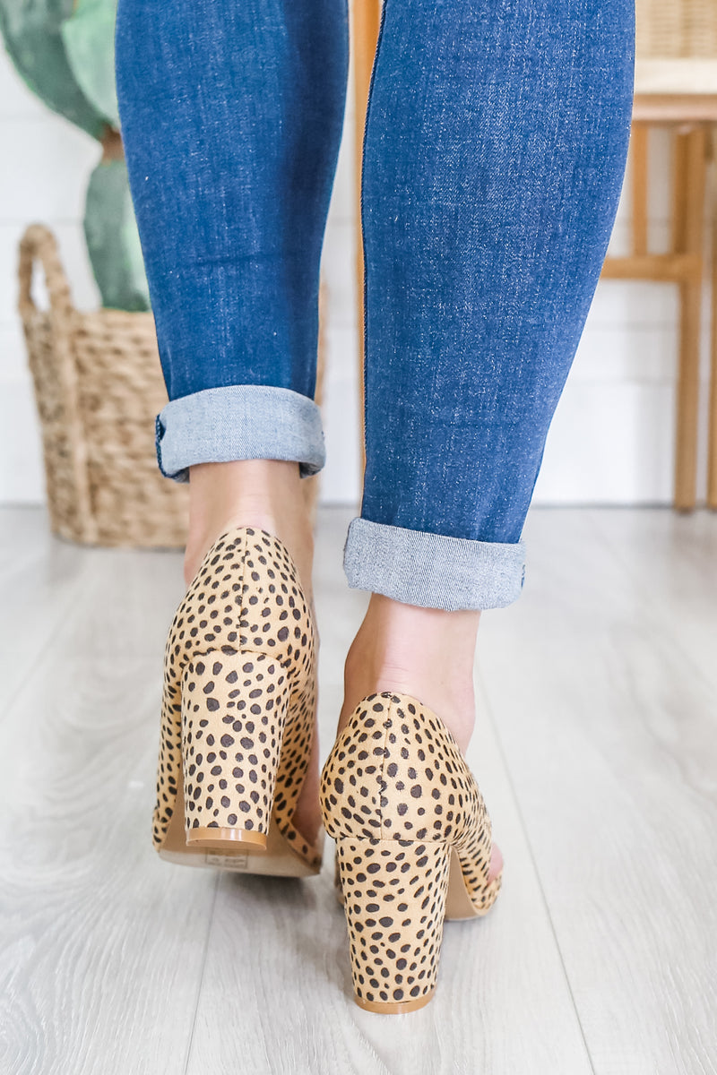 Faux Suede Animal Print Heels | Stylish & Affordable | UOI Online