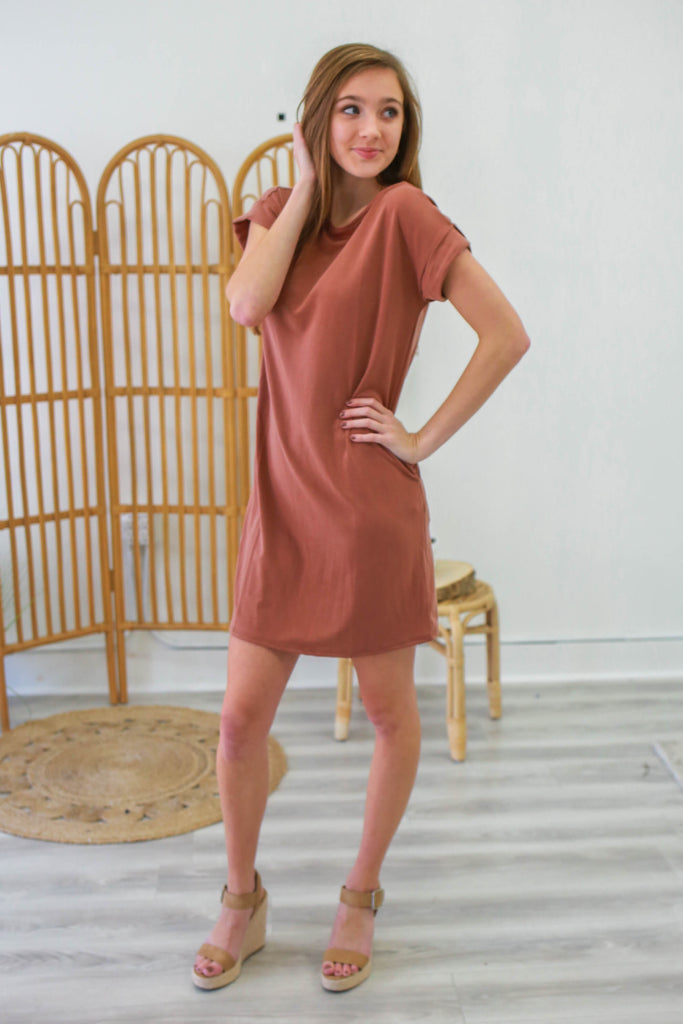 Short Sleeve Tunic Dress | Stylish & Affordable | UOI Online