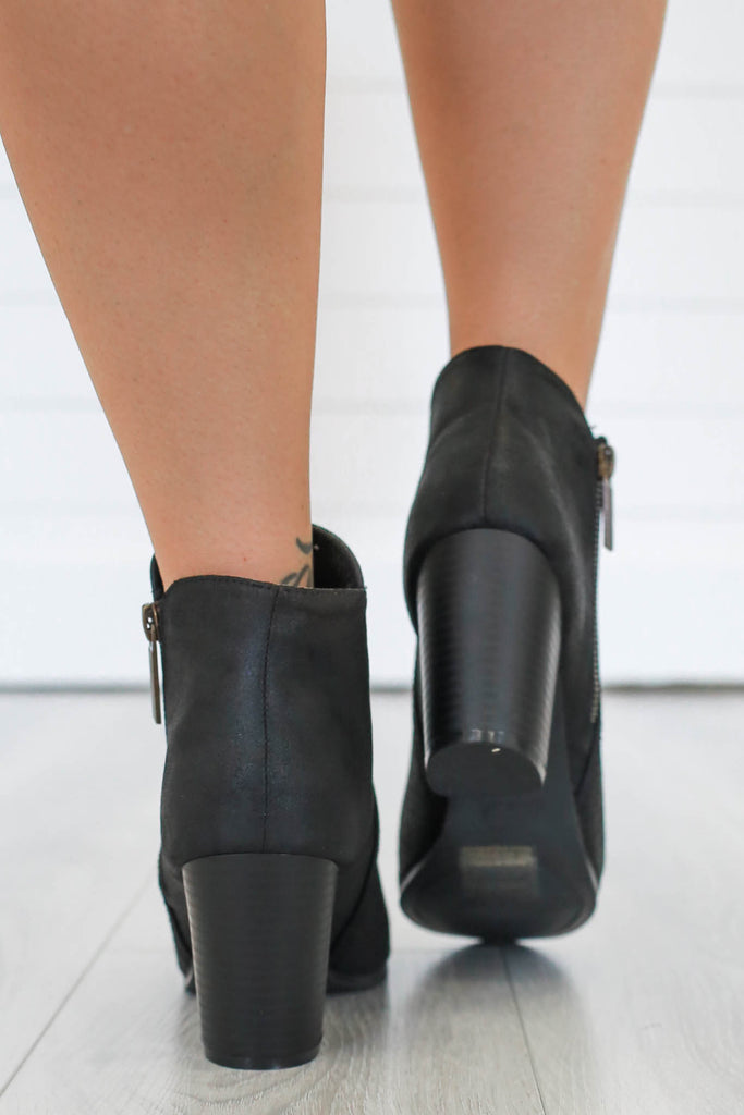 Sake-15 Faux Suede Ankle Booties - Online Clothing Boutique