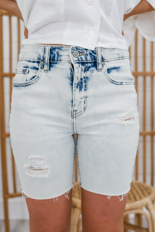 High Rise Bermuda Denim Shorts | Stylish & Affordable | UOI Online