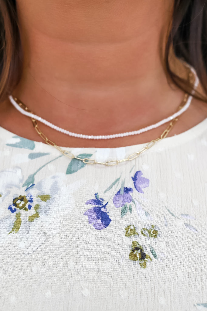 Dual Layered Necklace | Stylish & Affordable | UOI Online