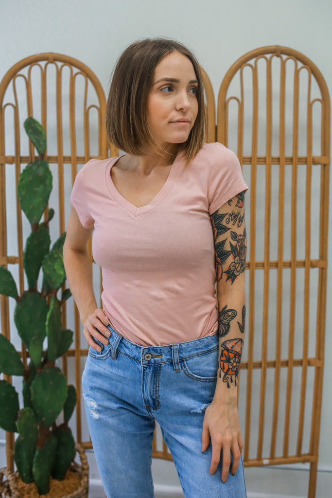 V-Neck Tee - Online Clothing Boutique