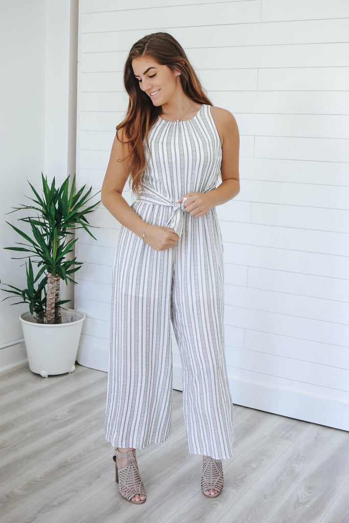 Striped Jumpsuit - Online Clothing Boutique