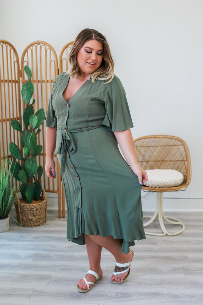 Plus Size Midi Dress | Stylish & Affordable | UOI Online