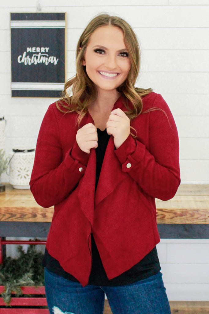 Faux Suede Jacket | Stylish & Affordable | UOI Online