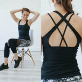 Strappy Back Athletic Tank Top - Online Clothing Boutique