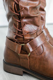 Barcelona-2 Faux Leather Riding Boots - Online Clothing Boutique
