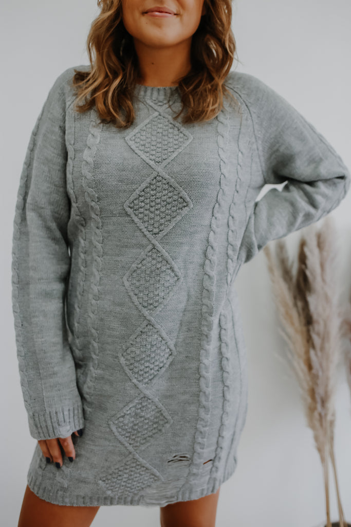 Cable Knit Sweater Dress | Stylish & Affordable | UOI Online